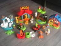 Happyland Zoo/Shop/Safari/Trucks/Train/Animals & Figures