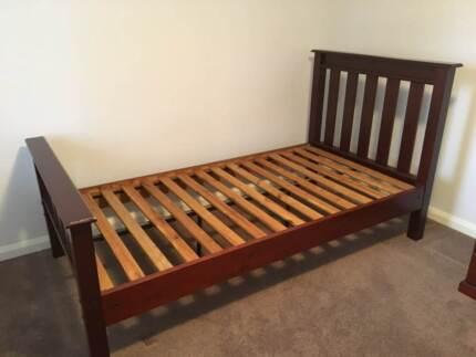 Solid Jarrah King Single Bed & Mattress