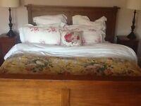 Superb king size Teak bed frame.