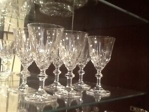 SIX CRYSTAL CUT GLASSES IN AS NEW CONDITION Richardson Tuggeranong Preview