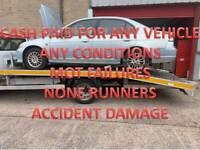 INSTANT MONEY PAID FOR UNWANTED SCRAP CARS VEHICLE NONE RUNNERS MOT FAILURES COVENTRY