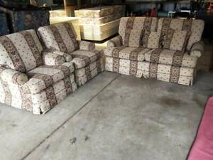 Lounge Suite 2.5 Seater   2 Arm Chairs Sofa Couch Furniture Comfortab