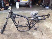 Suzuki 650 engine, frame and forks.