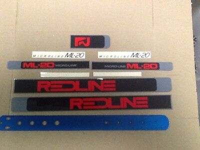 Lot Of 5 Redline Decals BMX Race Freestyle Stickers Vintage New