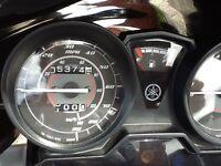 Yamaha YBR 125cc Motorcycle with top box. Low mileage. MOT'd