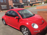 VW Beetle Luna Red 3dr 1.6. MOT and service history. 1 lady owner from new, stunning condition