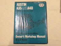 Haynes Workshop Manual for Austin A35 and A40.