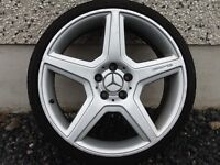 19INCH 5/112 MERCEDEZ AMG 447 ALLOY WHEELS WITH TYRES FIT AUDI VW SEAT ETC