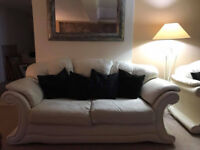italian napa' leather 3 piece susite , spare set seat covers'smoke free home can deliver £500