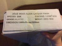Solid Oak Hardwood Flooring, 15mm X 90mm (2 packs,1.638 square metres per pack)