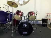 Red Wine Custom Drum Kit -Used (COLLECTION ONLY)