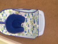 Blue bath seat