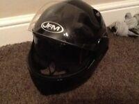 JFM motorcycle helmet.