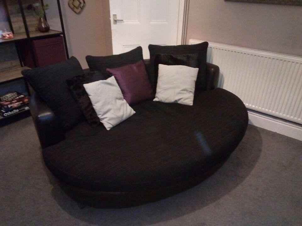 Large Black Cuddle Sofa ***Excellent Condition***