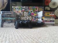 Boxed 500gb PS3 Console + All Controllers And CablesWwith 24 Games + DJ Hero Controller