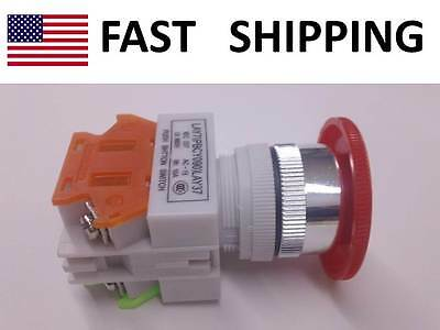 Industrial Controls Emergency Shut Off Switch Push Button - Max 600v 10a - New
