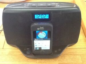 Charging station and speaker for older iPhone or iPod