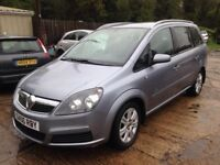 ** NEWTON CARS ** 06 VAUXHALL ZAFIRA 1.6 ACTIVE, 7 SEATER, GOOD OVERALL, MOT SEPT 2018, P/EX POSS