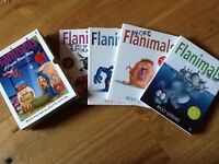 BOXED SET OF FLANIMALS HARD BACK BOOKS, RICKY GERVAIS, AS NEW