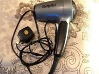 Babyliss hair dryer can bend the handle into triangle,vertical.excellent condition,hardly used