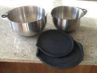 TWO PAMPERED CHEF MIXING BOWLS
