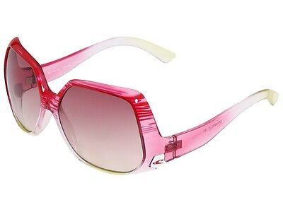 O'Neill Whitney Upside Down Butterfly Vintage 70s Style Sunglasses Pink Lenses (O Neill Womens Sunglasses)