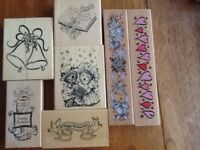 A selection of Wedding/anniversary rubber stamps