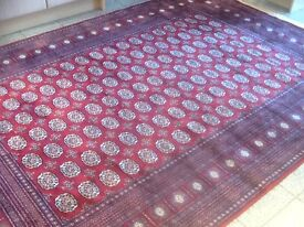 Superb quality man-made silk(synthetic)rug-290cm x 200cm-used for 2 night exhibition-thin,smooth,