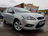 **12 MONTHS WARRANTY** FORD FOCUS ZETEC 100 1.6 (2008) - 5 DOOR - F.S.H - 2 KEYS - HPI CLEAR!