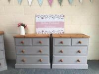 Beautiful pair of Woodpecker (excellent quality) solid wood chest of drawers