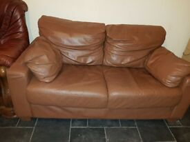 Brown leather sofa for sale – In very good condition.