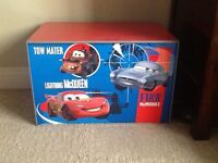 Disney Pixar Cars Toy Box, Rug and Stationary desk with chair