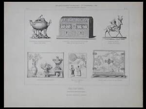 OBJETS D'ART ORIENTAL - GRAVURE 1849 - COLLECTION DEBRUGE DUMENIL - France - Thme: Architecture Période: XIXme et avant - France