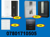 WARDROBE WARDROBES TALLBOY CHESTS BRAND NEW FAST DELIVERY 60278