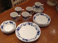 Port meirion Harvest Blue Discontinued Part Dinner Service