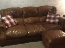 2 seater,3 seater and a footstool