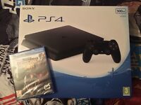 PS4 Slim 1TB (Upgraded Hard Drive) W/ inFAMOUS Second Son & 2 Months Now TV Cinema Pass