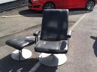 Electric massage chair with footstool with instructions reduced to £45