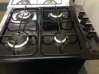 cda 4 burner black gas hob 58cm wide