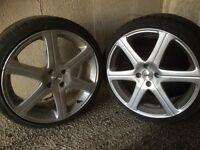 Kahn alloy wheels and tyres
