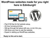WordPress websites made for £150 right here in Edinburgh!