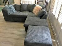 NEW SALE ON ALL NEW DYLAN JUMBO CORD CORNER & 3+2 SEATER SOFA SET AVAILABELE IN STOCK