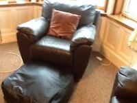 Black leather 4 pc e sofa