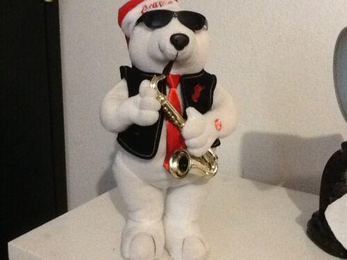 Coca Cola Jazz Polar Bear Playing Saxophone