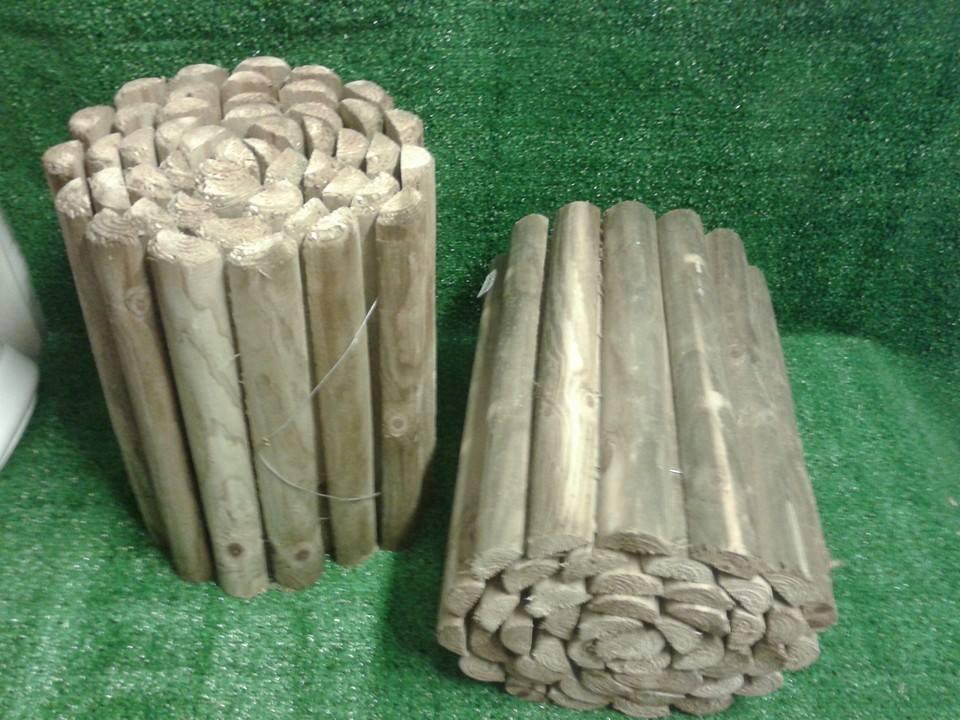 Bordura da giardino mini steccato per aiuole rollborder for Bordura giardino