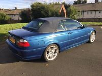 BMW 330CI CONVERTIBLE,ONLY 120K MANUAL BOX,10 MONTH MOT,MAY TAKE CHEAP P/EX