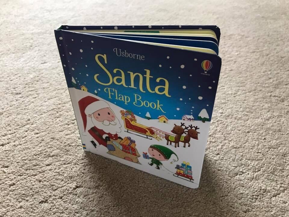 Usborne santa flap book brand new