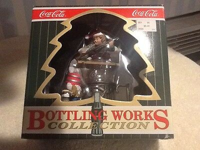 Coca Cola Ornament Bottling Works Collection 1997 Elves Mopping Bucket Brush