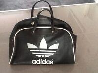 Vintage retro black Adidas gym bag