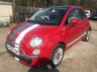 ** NEWTON CARS ** 08 58 FIAT 500 LOUNGE 1.3 MULTIJET, 3 DOOR, GOOD COND, FSH, ALLOYS, MOT OCT 2017